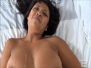 Hot asian chick does it all