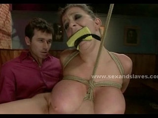 Sex slave fucking in rough bondage submission sex video