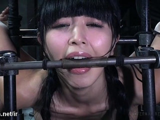 Masters vigorous punishment left cute Asian slaves pussy drenched with nectar