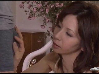Milf In Lingerie Giving Blowjob For Young Guy Cum To Mouth On The Bed